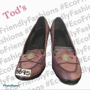 Tod's Women's Loafer Heels Penny Loafers